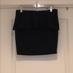 NWT black peplum mini skirt
